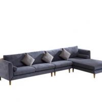 昌越家具 简约休闲北欧客厅转角贵妃小户型可拆洗布艺沙发组合 小户型沙发