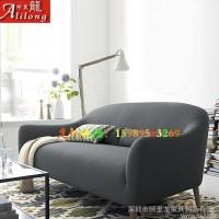 现代简约单人双人三人布艺沙发 客厅卧室办公组合布沙发定制