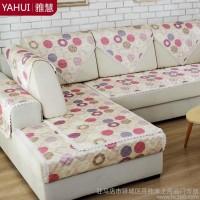 雅慧 夏季凉席沙发垫夏凉垫加厚绗缝冰丝坐垫布艺沙发垫防滑定制                2015 款 印