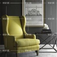 定制\n            欧式布艺沙发椅/新古典实木休闲