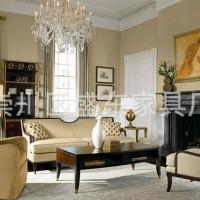 新中式布艺沙发 小户型布艺沙发 三人沙发 样板房家具定制定做