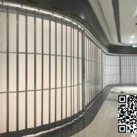 香港商用手动铝合金25/30公分水晶折叠门手动推拉门防盗隔断