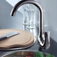 新品不锈钢 厨房水** 冷热单孔旋转水槽** 直销 质量保证